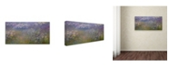 """Trademark Global Monet 'Water Lillies 2' Canvas Art - 24"""" x 12"""" x 2"""""""