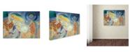 "Trademark Global Robert Delaunay 'Nude Woman Reading 2' Canvas Art - 47"" x 35"" x 2"""