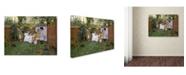 "Trademark Global William Merritt Chase 'Open Air Breakfast' Canvas Art - 24"" x 18"" x 2"""
