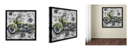 "Trademark Global Jean Plout 'Vintage Motorcycles On Route 66 5' Canvas Art - 35"" x 35"" x 2"""