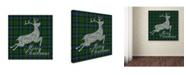 "Trademark Global Jean Plout 'Merry Christmas Plaid 1' Canvas Art - 18"" x 18"" x 2"""