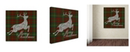 "Trademark Global Jean Plout 'Merry Christmas Plaid 3' Canvas Art - 35"" x 35"" x 2"""