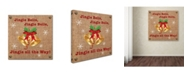"Trademark Global Jean Plout 'Christmas On Burlap 6' Canvas Art - 24"" x 24"" x 2"""