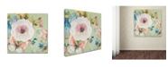 "Trademark Global Jean Plout 'Botanical Beauty 2' Canvas Art - 14"" x 14"" x 2"""
