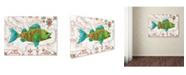 "Trademark Global Jean Plout 'Nautical Treasures 1' Canvas Art - 24"" x 18"" x 2"""