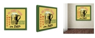 """Trademark Global Jean Plout 'Beer 9' Canvas Art - 14"""" x 14"""" x 2"""""""