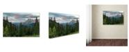 """Trademark Global Mike Jones Photo 'Dusk Near Ouray' Canvas Art - 32"""" x 22"""" x 2"""""""