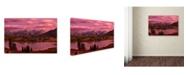 "Trademark Global Mike Jones Photo 'Silverton Lake Dusk' Canvas Art - 47"" x 30"" x 2"""