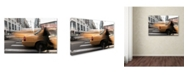 """Trademark Global Moises Levy 'Ghost in Cab' Canvas Art - 19"""" x 12"""" x 2"""""""