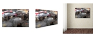 """Trademark Global Moises Levy 'Umbrellas 6' Canvas Art - 32"""" x 22"""" x 2"""""""