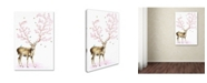 "Trademark Global Michelle Faber 'Cherry Blossom Deer' Canvas Art - 24"" x 16"" x 2"""