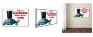 "Trademark Global Vintage Lavoie 'Ad 2' Canvas Art - 32"" x 22"" x 2"""