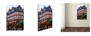 """Trademark Global Robert Harding Picture Library 'Red And White Building' Canvas Art - 24"""" x 16"""" x 2"""""""