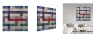 "Trademark Global Sher Sester 'Cool Mosiac Lodge Pattern' Canvas Art - 18"" x 18"" x 2"""