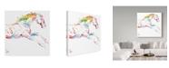 "Trademark Global Sher Sester 'Scribble Horse On White' Canvas Art - 24"" x 24"" x 2"""