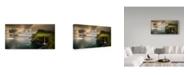 "Trademark Global Wojciech Kruczynski 'Gasadalur And Mykines' Canvas Art - 10"" x 19"" x 2"""