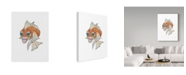 "Trademark Global Jessmessin 'Orange Koi' Canvas Art - 24"" x 18"" x 2"""