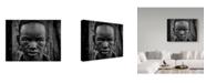 "Trademark Global Mohammed Al Sulaili 'Hammer Girl' Canvas Art - 19"" x 2"" x 14"""
