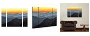 "Trademark Global Pierre Leclerc 'Great Smoky Sunset' Multi Panel Art Set Small 3 Piece - 44"" x 34"" x 2"""