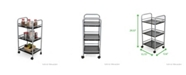 Mind Reader 3 Tier All Purpose Metal Kitchen Trolley, Utility Cart, Home or Office
