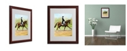"Trademark Global Michelle Moate 'Horse of Sport IV' Matted Framed Art - 20"" x 16"" x 0.5"""