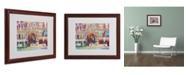 """Trademark Global Richard Wallich 'London' Matted Framed Art - 16"""" x 20"""" x 0.5"""""""