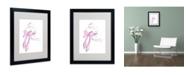 "Trademark Global Jennifer Lilya 'Cupcake 5' Matted Framed Art - 20"" x 16"" x 0.5"""