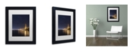 "Trademark Global Moises Levy 'Golden Gate and Stars' Matted Framed Art - 11"" x 14"" x 0.5"""