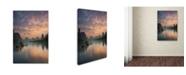 "Trademark Global Yan Zhang 'Li River Sunrise' Canvas Art - 32"" x 22"" x 2"""