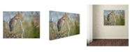 "Trademark Global Milan Zygmunt 'Purple Heron' Canvas Art - 47"" x 35"" x 2"""