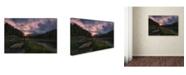 "Trademark Global David Martin Castan 'Dawn On Venice' Canvas Art - 19"" x 12"" x 2"""