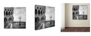 "Trademark Innovations Nigel Snape 'Early Morning Venice' Canvas Art - 14"" x 14"" x 2"""