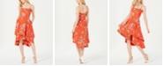 Vince Camuto Floral Square-Neck Fit & Flare Dress