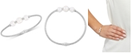 Honora Cultured Freshwater Pearl (7-9mm) Bangle Bracelet in Sterling Silver