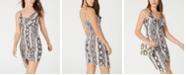 Crave Fame Juniors' Printed Asymmetrical Bodycon Dress