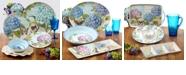 Certified International Hydrangea Garden Melamine Dinnerware Collection