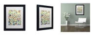 "Trademark Global Sylvie Demers 'Viva' Matted Framed Art - 11"" x 14"" x 0.5"""