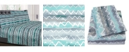 Sweet Home Collection Printed Full 4-Pc Sheet Set