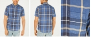 American Rag Men's Snow-Washed Denim Plaid Shirt, Created for Macy's