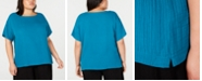Eileen Fisher Plus Size Organic Cotton Shirt