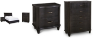 Furniture Philip Bedroom Furniture, 3-Pc. (California King Bed, Nightstand & Chest), Created for Macy's