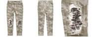 Imperial Star Big Girls Distressed Camo-Print Sequined Jeans