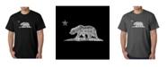 LA Pop Art Mens Word Art T-Shirt - California Bear