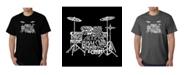 LA Pop Art Mens Word Art T-Shirt - Drums