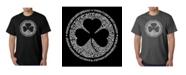 LA Pop Art Mens Word Art T-Shirt - Irish Eyes Clover