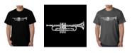 LA Pop Art Mens Word Art T-Shirt - Trumpet