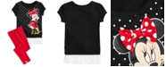 Disney Little Girls 2-Pc. Minnie Graphic Top & Leggings Set, Created for Macy's
