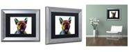 """Trademark Global Michael Tompsett 'French Bulldog' Matted Framed Art - 11"""" x 14"""""""