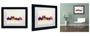 """Trademark Global Michael Tompsett 'York England Skyline' Matted Framed Art - 11"""" x 14"""""""