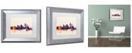 "Trademark Global Michael Tompsett 'Corpus Christie Texas Skyline' Matted Framed Art - 11"" x 14"""